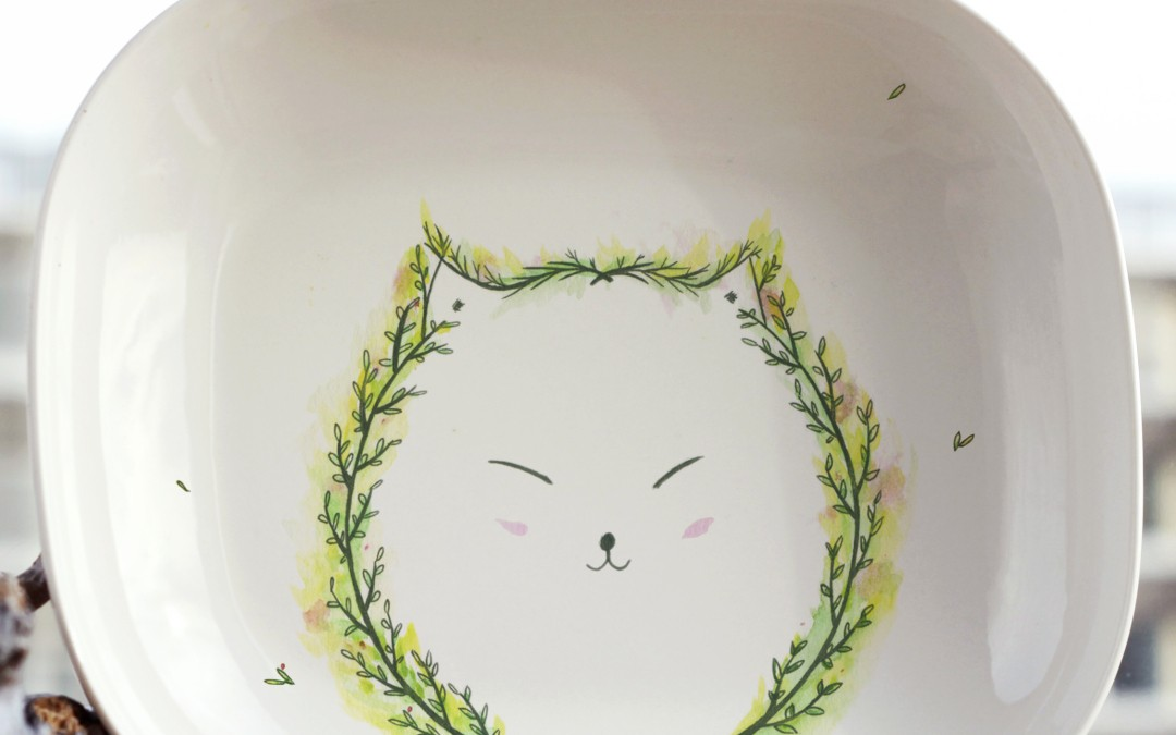 Forest Cat plate
