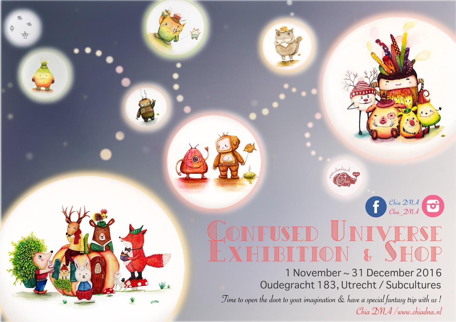 Confused Universe Exhibition & Shop November, December2016